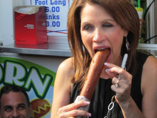 Ms. Bachmann's considerable corn dog skills.