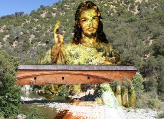 Danni Schlozmeyer of Grass Valley thinks she can save the historic Bridgeport covered bridge by getting it to accept Jesus Christ as its personal savior.