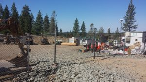 """Construction of the massive 170,875 sq. ft. """"Homeless Encampment Living Lodge"""" is quickly progressing."""