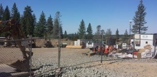 "Construction of the massive 170,875 sq. ft. ""Homeless Encampment Living Lodge"" is quickly progressing."
