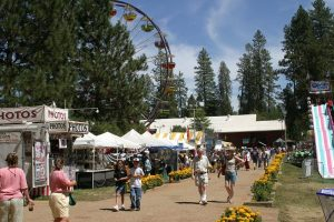 Booths at the Nevada County Fair