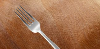 The last fork shown here at the Three Forks Bakery & Brewing Company.