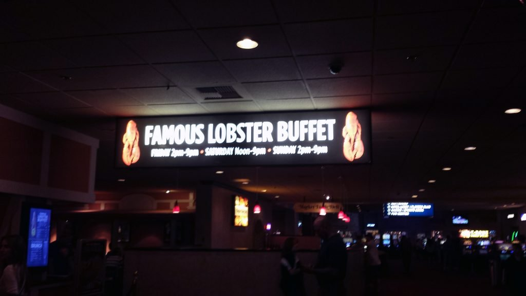 """The World Famous Lobster Buffet at the Boomtown Casino and """"Resort"""""""