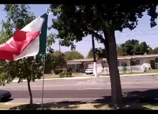 Mexican Flag in California. [gasp]