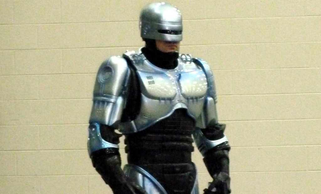 Robocop seen here at Nevada Union High School as a part of the Sheriff's outreach program.