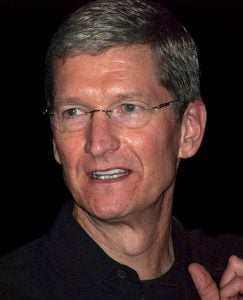 Apple CEO Tim Cook is excited about Apple Products that alert users of new Apple Products.