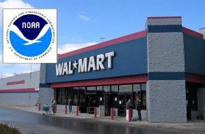 The National Weather Service and Wal-Mart are partnering in a