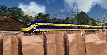 California Plastic Bag Tax to be Used for New High Speed Train