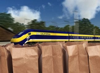 The new California High Speed Railroad will be funded by paper bag fees.