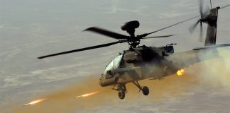Apache Helicopter Firing Rockets at real helicopter parents.