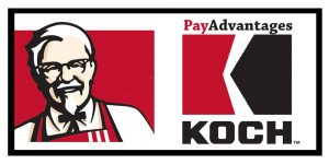 The joint KFC-Koch Industries chicken/check cashing service as been popular, according to a spokesman.