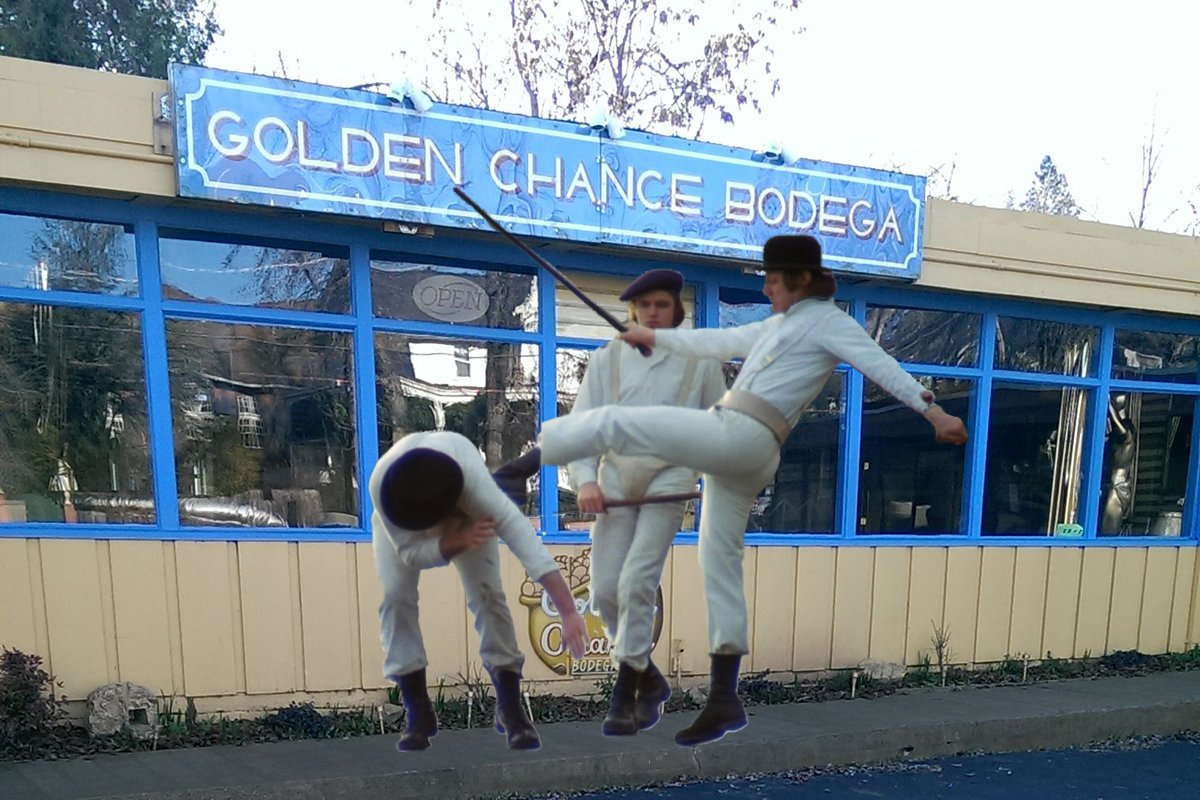 The Golden Chance Bodega appears to be harboring hoodlums.