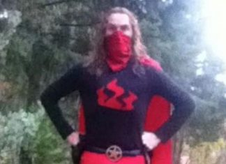 Nevada County's own superhero Fox Firemaker