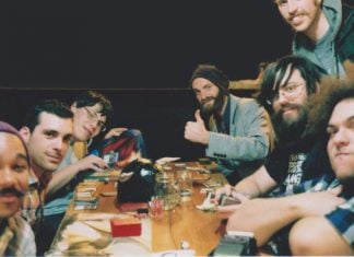This picture was taken moments before the fight erupted during a Magic the Gathering event at Round Table Pizza.