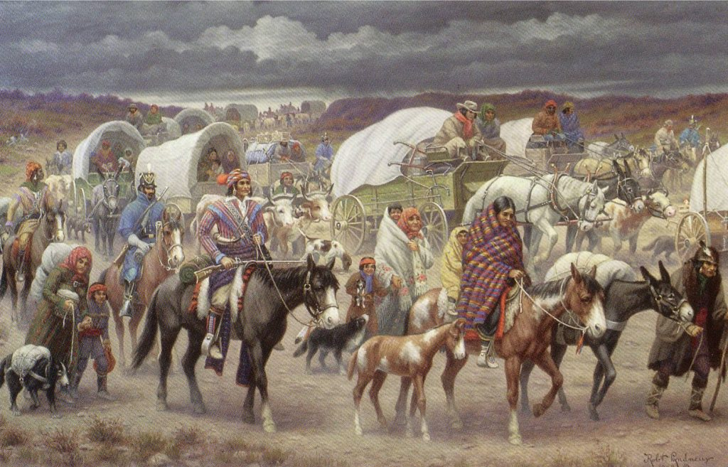 The Native American Nations seen here on a road trip to death in 1831