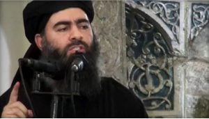 ISIS leader Abu Bakr al-Baghdadi delivering a sermon about loading fighter's beards with shit.
