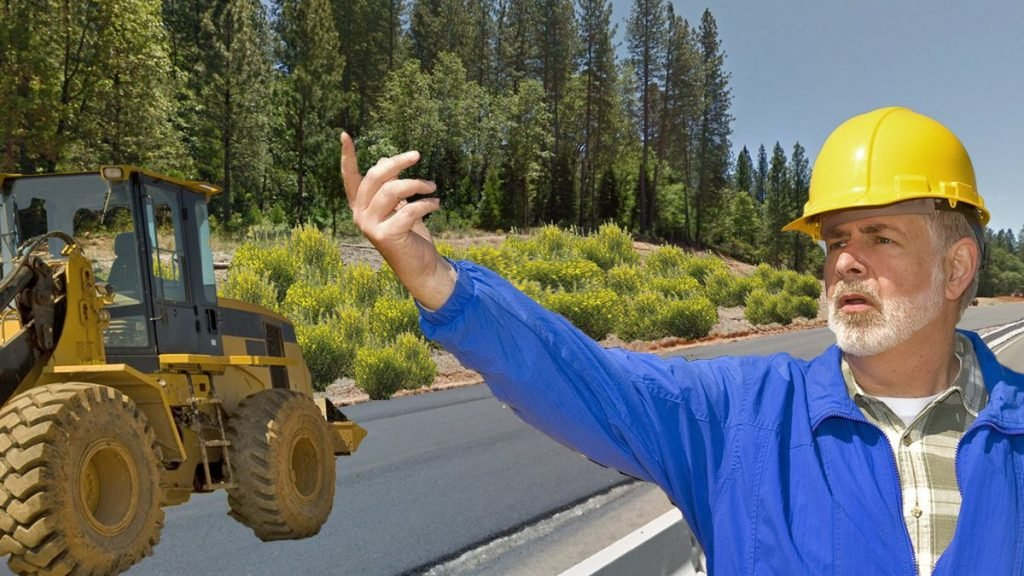 Scotch broom planting operations along Highway 49 in Nevada County, CA