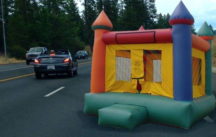 Jerry Dodge's bounce house on Highway 49. Source: the venerable David C. Jensen.
