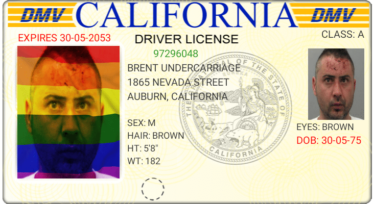 "A sample of the new ""Rainbow Pride"" driver's license in California."