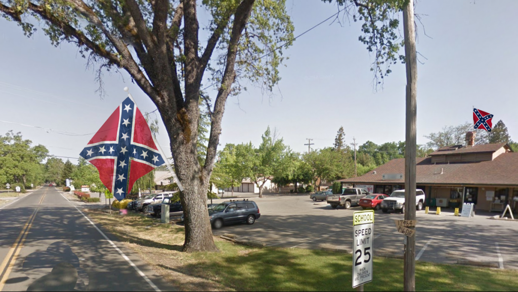 Confederate Flags in Penn Valley
