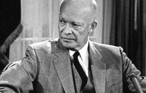 Former President of the United States Dwight Eisenhower is utterly confused by the current GOP.