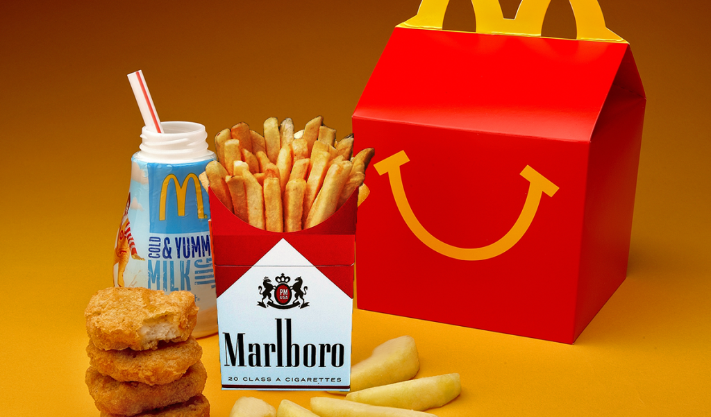 A New Happy Meal mock-up provided by both companies.