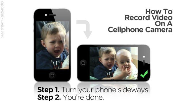 This is how you rotate your mobile phone.