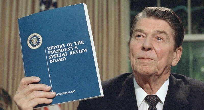 The Tower Commission, appointed by President Reagan, found that he did nothing wrong.