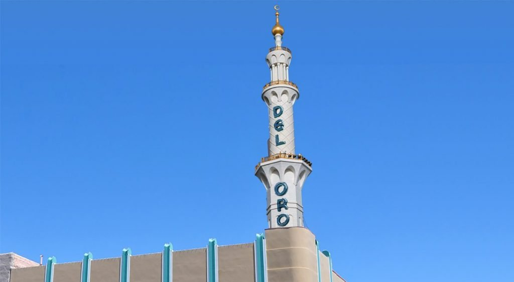 Artist rendition of the new Islamic minaret to replace the old Del Oro Tower.