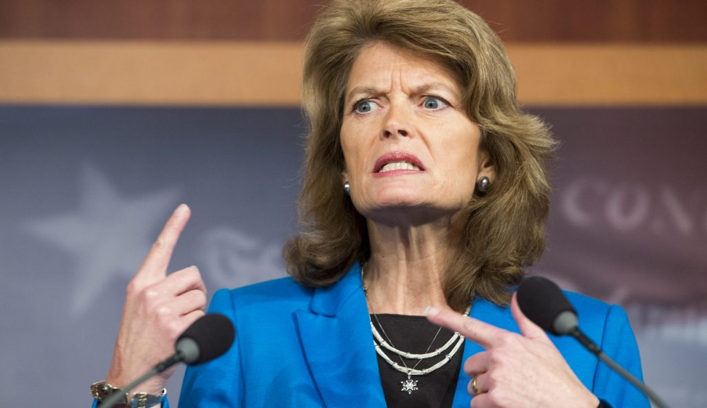 Senator Lisa Murkowski seen here explaining why Columbus, OH needs to be renamed.