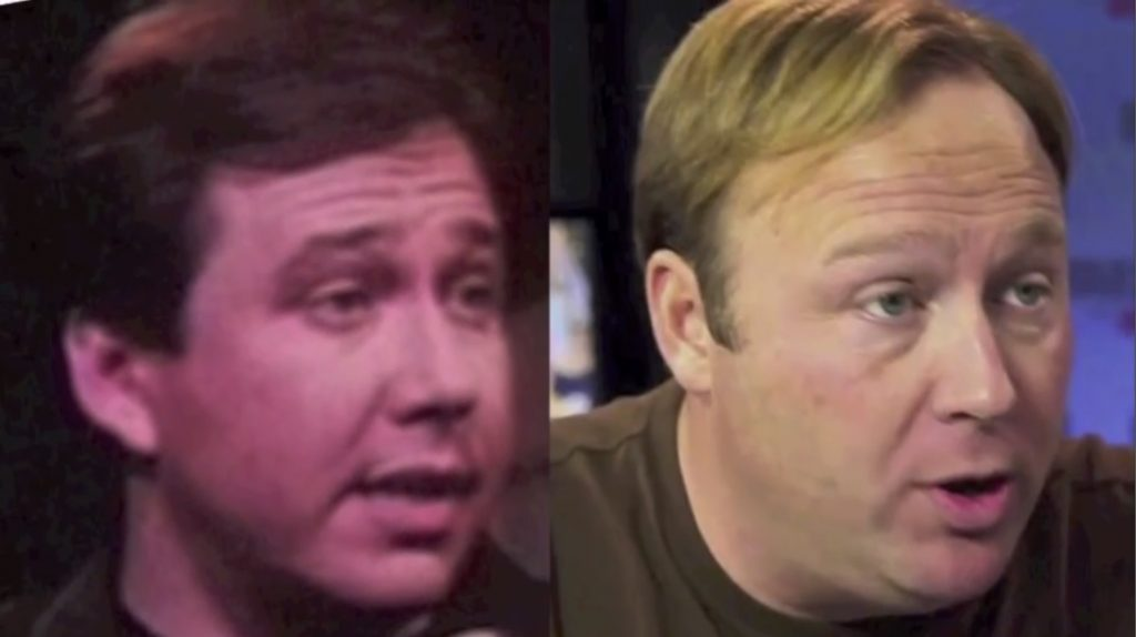The resemblance between Bill Hicks (left) and Alex Jones (right) is uncanny.