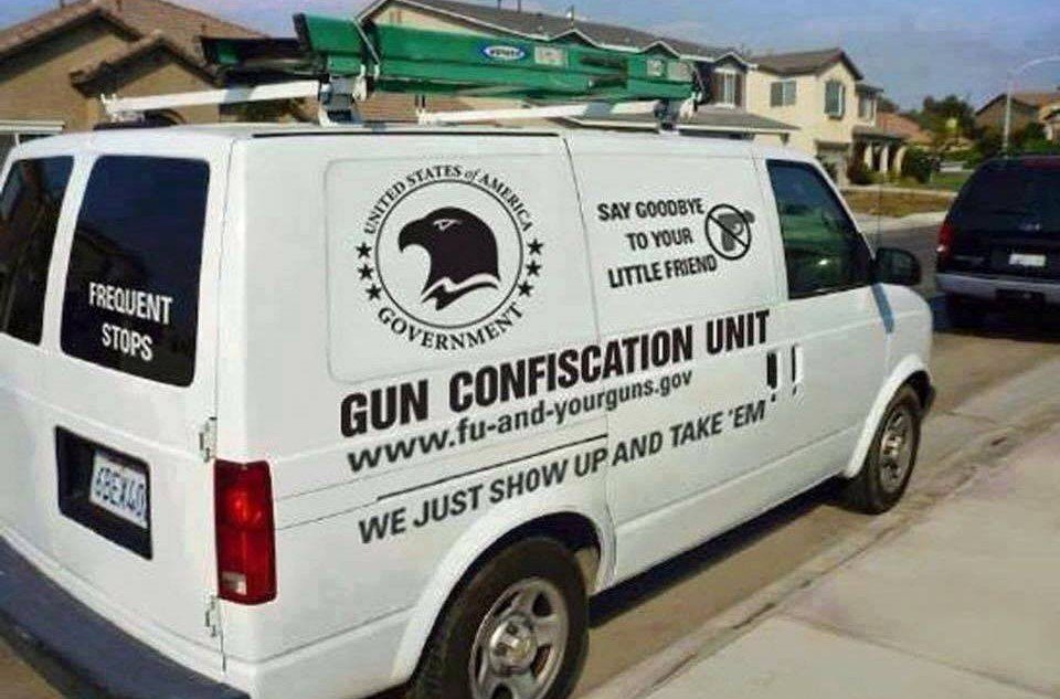 The Federal Government's Gun Confiscation Unit is in Penn Valley, CA this week to seize everyone's guns.