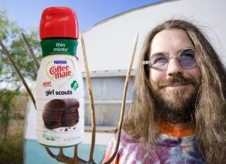 Thomas Kevlin of North San Juan find Girl Scout Cookie Creamer funny.