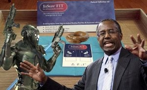 Dr. Ben Carson, Democrat drones, and Federal stool collection kit.