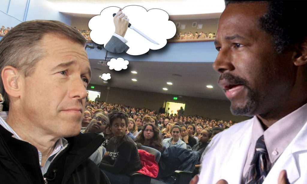 Brian Williams saved Dr. Ben Carson in his imagination.