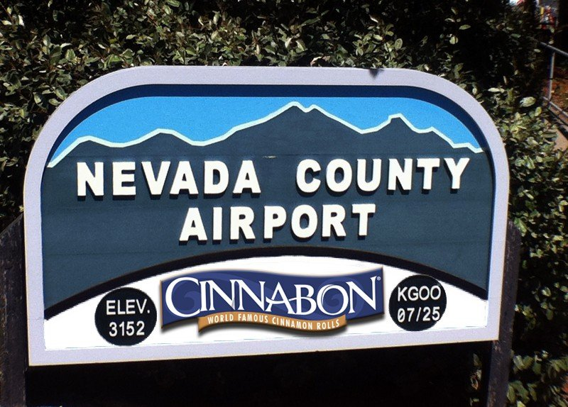 Part of the Cinnabon deal requires that the airport sign be properly branded.