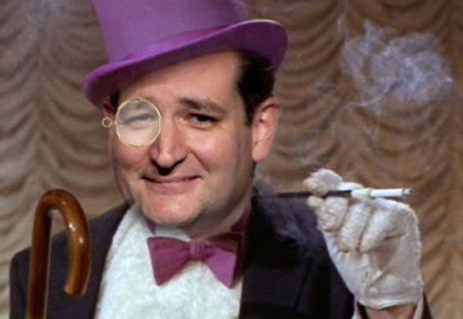 Senator Ted Cruz to portray the Penguin, and not the Joker, in an upcoming Batman film.