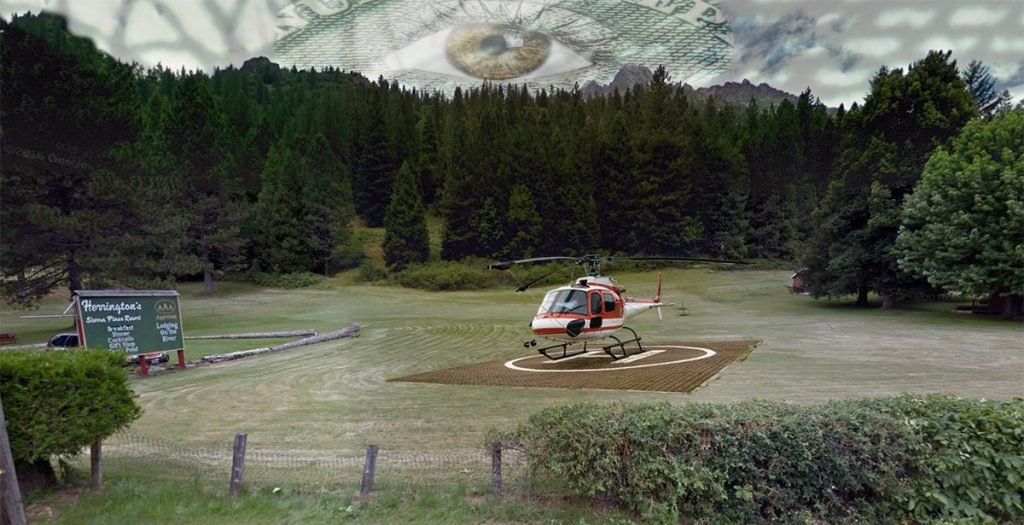 Herrington's of Sierra City, CA built a helipad for the event, which they are not talking about.
