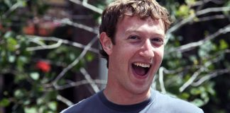 Zuckerberg laughing his evil laugh as he attempts to stifle Free Speech