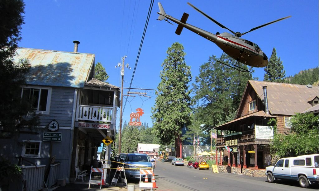 The residents of Sierra City, CA are readying themselves for helicopters