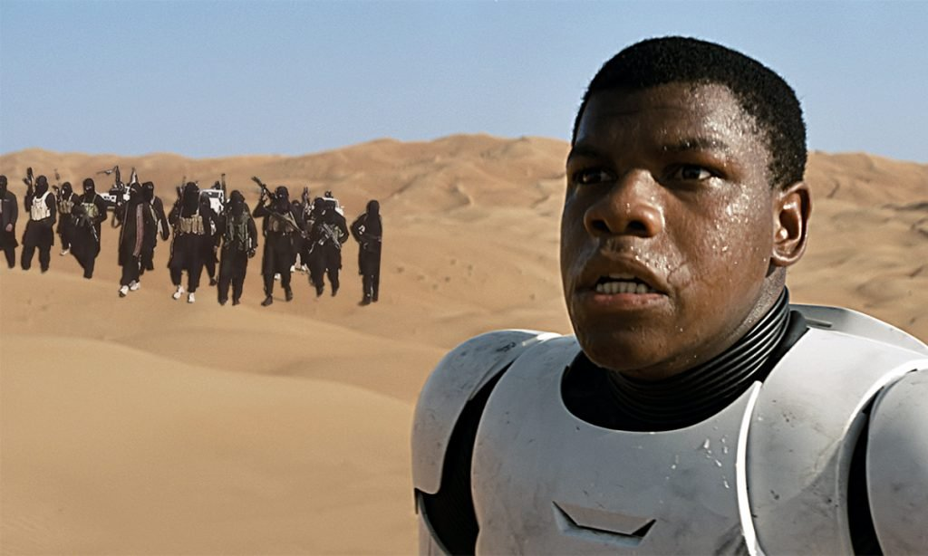 J.J. Abrams apologized for using ISIS terrorist as Star Wars extras.