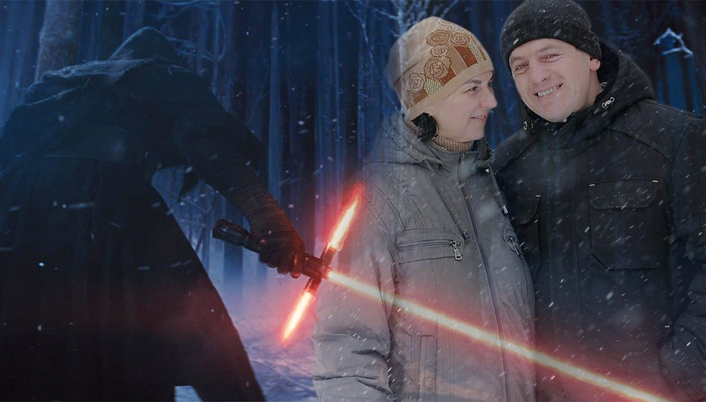 A couple froze to death waiting to see the latest Star Wars film.