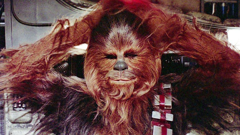Everyone loves Chewbacca. But you've never seen him in the buff. (below)