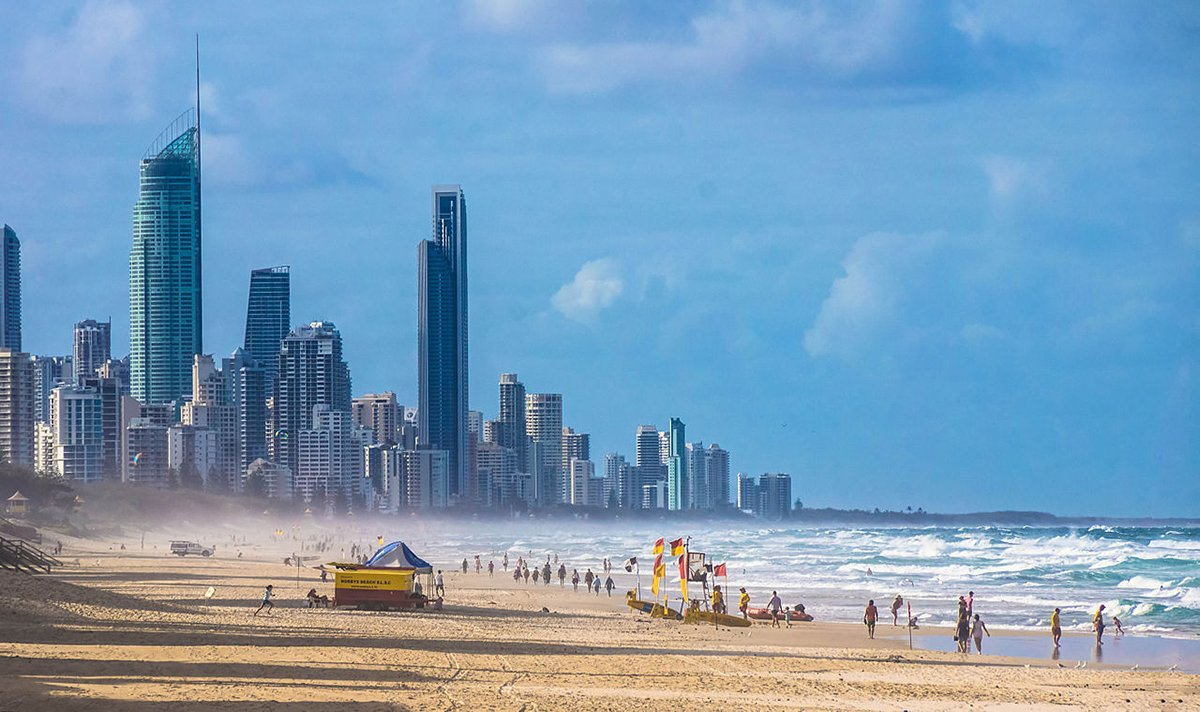 To the causal onlooker, this looks like a reasonable depiction of the Australian Gold Coast. However this is an elaborate Photoshop provided by the CIA.
