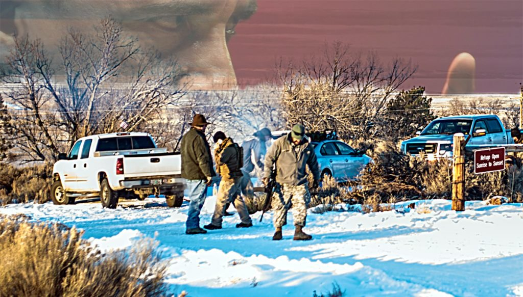 A small group of armed men occupied the headquarters of the Malheur National Wildlife Refuge in Burns, Oregon to keep the Muslim President from taking the lands that they rightfully stole from Native Americans.