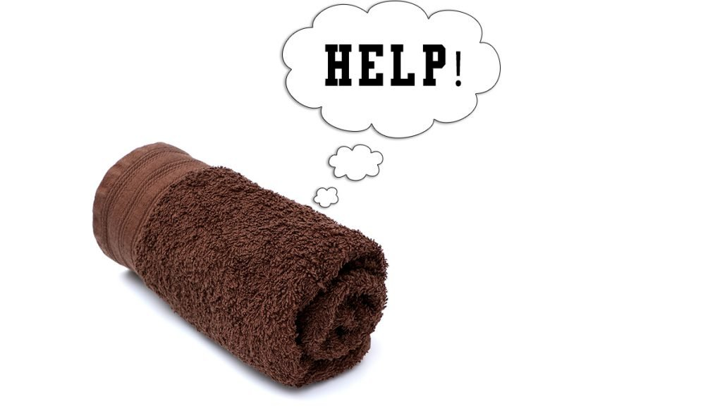 Rolled Brown Towel