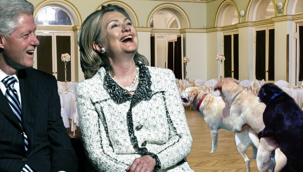 The Clintons are in hot water for some remarks they made about dogs.