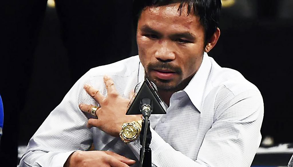 Pacquiao explained his recent outbursts as a result of his waning career leaving him without a homoerotic outlet