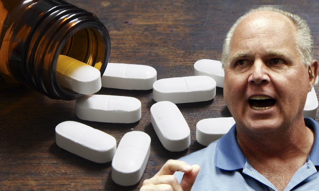 Rush Limbaugh is an expert on sluts and pills.