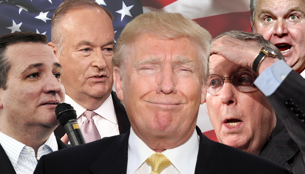 Republican party leaders and conservative pundits are shocked by the rise of Donald Trump.